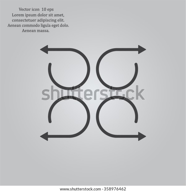 4 arrow pictogram refresh reload rotation loop sign set