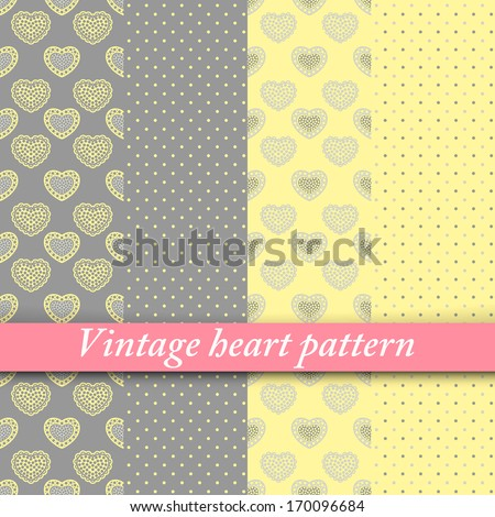 4 Beautiful Pastel Seamless Patterns Tiling Stock Vector