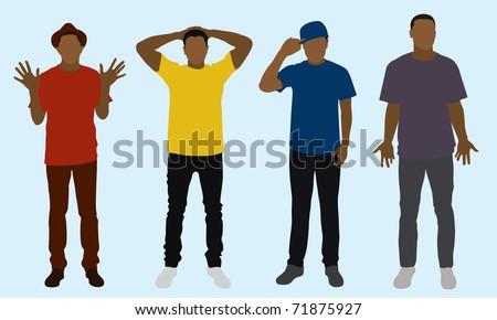 black skinny teens