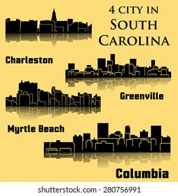 4 City in South Carolina ( Columbia, Charleston, Greenville, Myrtle Beach)