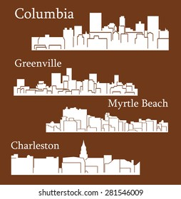 4 City in South Carolina ( Columbia, Charleston, Greenville, Myrtle Beach)
