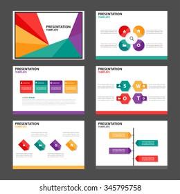 4 color presentation template Infographic elements flat design set for brochure flyer leaflet marketing advertising