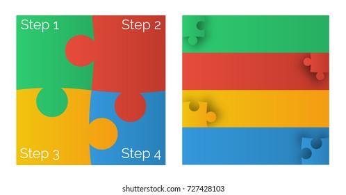 4 color puzzle info graphic