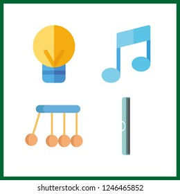4 creative icon. Vector illustration creative set. idea and ruller icons for creative works