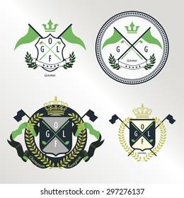 4 crest badge pattern for golf sport