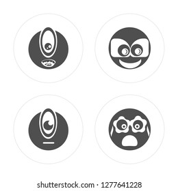 4 Cyclops, Nerd, Nerd modern icons on round shapes, vector illustration, eps10, trendy icon set.