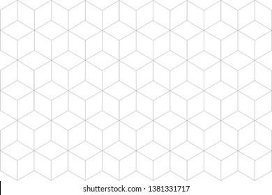 4 dimensional line square grid pattern, three-dimensional cube shape  colourful