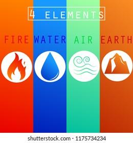 4 element symbol,