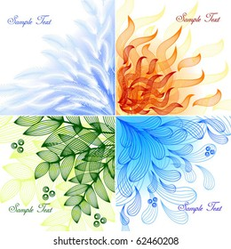 4 elements. Set of vector backgrounds