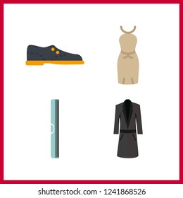 4 fashionable icon. Vector illustration fashionable set. ruller and shoes icons for fashionable works