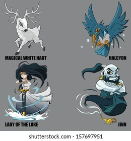 4 Graphic Vector Of Mythical Creatures Set 18