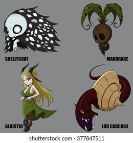 4 Graphic Vector Of Mythical Creatures Set 31