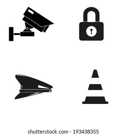 4 icon safety vector