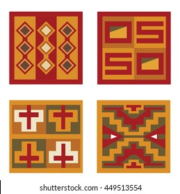 4 Inca Patterns ready to use in your designs.