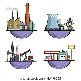 4 industrial structure logos