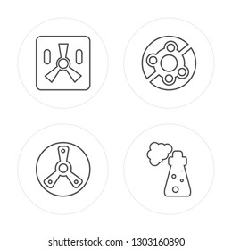 4 line Smarthphone, Junction, No pets, Slope modern icons on round shapes, Smarthphone, Junction, No pets, Slope vector illustration, trendy linear icon set.