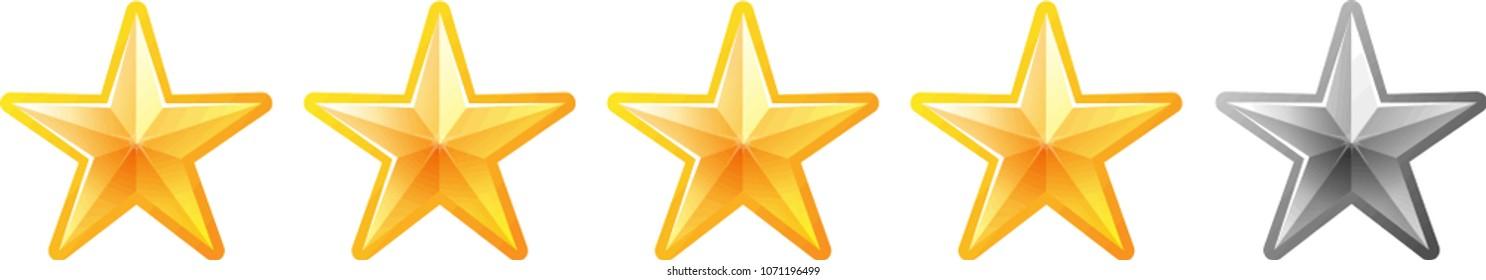 4 Luxury star rating bar