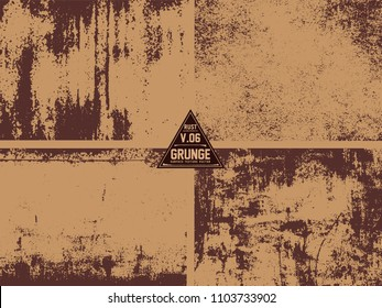 4 metal Rust Old Vector Textuer Grunge