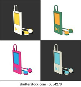 4 mp3 player (vector)