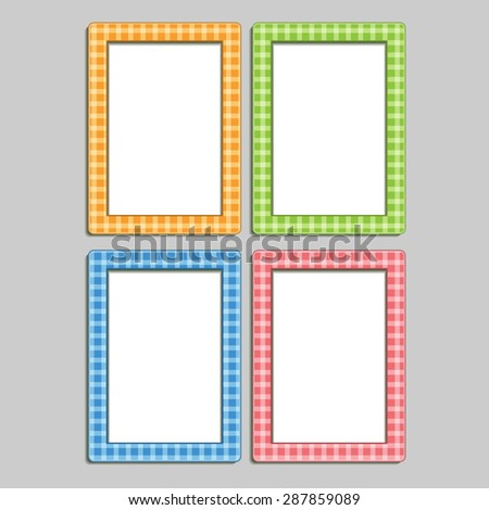 4 Multicolored Childrens Photo Frames Box Stock Vector (Royalty Free ...