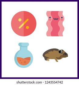 4 nobody icon. Vector illustration nobody set. mouse and bacon icons for nobody works