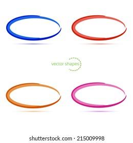 4  ovals.Vector illustration