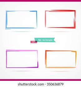4 rectangles.Vector illustration