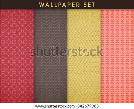 4 seamless patters textured paper backgrounds stock vector royalty