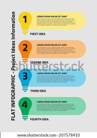 4 Step Light Bulb Infographic Stock Vector Royalty Free 207578410