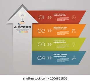 4 steps of arrow Infografics template. for your presentation. EPS 10.