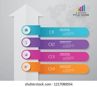 4 steps of arrow infografics template. for your presentation. EPS 10.