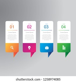 4 steps business infographics for the presentation