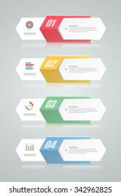 4 steps infographic template. can be used for workflow layout, diagram, number options, progress, timeline