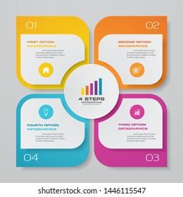 4 steps infographics chart design element. For data presentation.