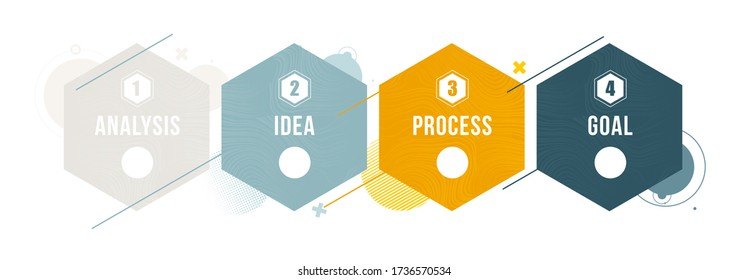 4 steps stylish design graphic infographics process. diagram presentation 4 options or steps. vector design stylish dynamic frames for text. vector illustration