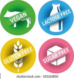 4 Symbols Vegan, Lactose free, gluten free, sugar free
