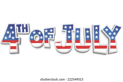 4 th of july cartoon sign