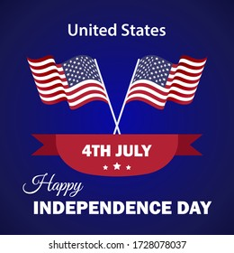 4 th july Happy Independence day USA. United States of America background with National flag.