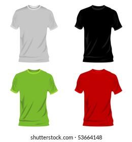 4 t-shirts vector illustration
