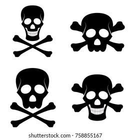 4 types of vector skulls