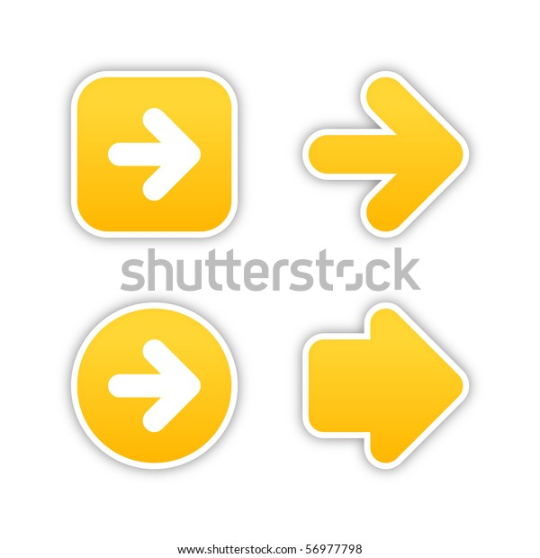 4 Web 20 Button Stickers Arrow Stock Vector (Royalty Free