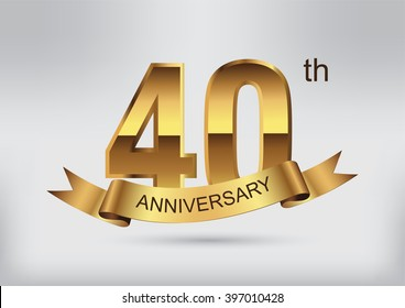40 anniversary template design.40 years anniversary.Vector illustration.