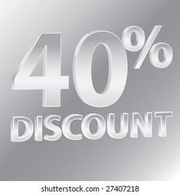 40% Discounts / vector