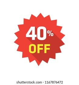 40% LABEL DISCOUNT