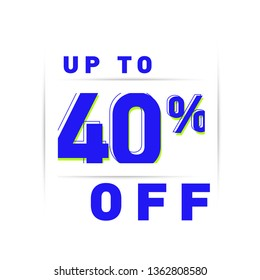 40% OFF, DISCOUNT PERCENTAGE MODERN TEMPLATE, SALE DESIGN
