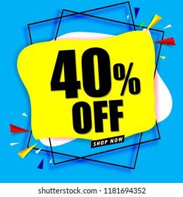 40% off sale banner modern design