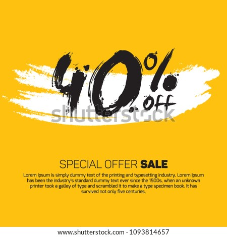 3ae37d623570 40% OFF Special Offer Sale (Promotional Poster Design Vector Illustration  Offers Mobile sale Fashion