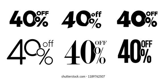 40% off typography sale gift