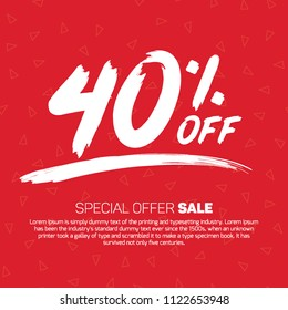 40 Percent off  Special Offer Tag Banner Advertising Promotional Poster  Design Vector Offers Mobile Fashion Electronics Home Appliances Books Jewelry
