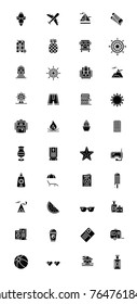 40 Vacation icon package